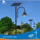 luz decorativa ao ar livre solar do diodo emissor de luz do jardim do parque única/lâmpada dobro de 2.5m/3m/4m