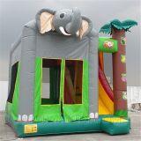 Elefante inflável do Bouncer do brinquedo, castelo do tema da selva (B3014)