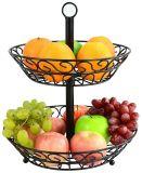 Cestino di frutta smontabile del metallo delle doppie file della cucina