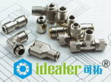 Le connecteur en nylon Un-Touchent l'ajustage de précision pneumatique avec du ce (PUC10)