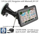 """최신 4.3 """" 차 트럭 주춤함 외피 A7 GPS 항해자 FM, Bluetooth와 가진 바다 GPS 기관자전차 항법, 후방 사진기AV 에서, 소형 GPS 항법 학력별 반편성"""