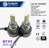 2 штук много S2 H1 початков светодиодные фары 72W 8000лм Car LED фары головного света лампы противотуманного фонаря 6500K 12V