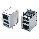 Migliore connettore combinato Port del USB schermato di prezzi metallo Cat5 RJ45