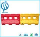 Barreiras plásticas amarelas para pesos enchidos água da barreira da estrada da venda