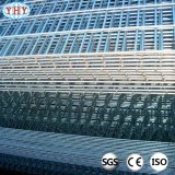 Le PVC vert a enduit les panneaux de frontière de sécurité soudés par 50X100mm de treillis métallique pour le jardin