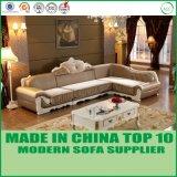 Sofá moderno de lujo francés de la tela de la sala de estar de Chesterfiled