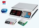Digitas eletrônicas que pesam a escala do preço da cozinha