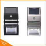 Licht im Freien silberner des Schwarz-PIR Fühler-Solarwand-Lampen-Solarder bahn-LED