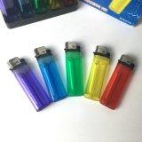 Fördernder erwachsener preiswerter kundenspezifischer Farben-Plastikfeuerstein-Wegwerfbutan-Gas-Feuerzeug-justierbare Flamme für Zigarette