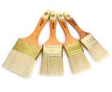 白い剛毛の金絵画ハンドルのツールが付いている工場絵筆