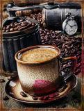 Teken van het Blik van de Koffie van de douane het Decoratieve Uitstekende