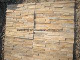 Камень культуры естественного желтого шифера высокого качества Split для стены Caldding
