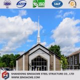 Construction d'église structurale en acier préfabriquée de conformité de la CE de pente du monde