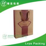Custom blanca de bajo coste de Artesanía de la estraza Feliz Navidad bolsa de papel para regalo