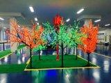 Quatro cores de plástico opcional Flowerpot Garden Pot com painel solar