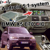 Interfaz video del GPS del rectángulo androide de la navegación para la conexión Youtube Waze del espejo del sistema de BMW E70 X5 Cic