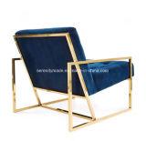 Moderner Luxuxwagen-Aufenthaltsraum-stützender Stuhl mit den Edelstahl-Beinen