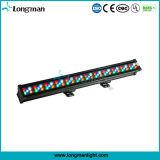 Rgbaw 60*3W DMX à prova de luz LED para parede exterior