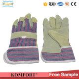 El trabajo industrial cerdo acolchado de cuero de grano guantes de seguridad (JM320S)