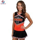 Gioventù variopinta nera ed arancione nuovo di disegno personalizzato modo poco costoso di Mess di Cheerleading dell'uniforme
