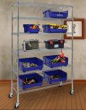 Свертывая вентиляция блока Shelving провода крома NSF 6 ярусов глубокая Shelves стальной шкаф хранения инструмента гаража организует