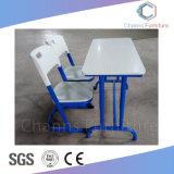 Le mobilier scolaire, forme droite étudiant MDF de bureau avec chaise Blue Jambes (AR-SD1803)