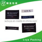 Escritura de la etiqueta tejida alta calidad de la ropa de la tela para la ropa