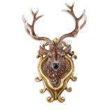 La decorazione animale della parete della resina di lusso con i cervi di natale dirige a casa la decorazione