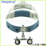6.0 x 확대 두눈 치과 루페 외과 의학 치과 티타늄 프레임 헤드 빛 Hesperus