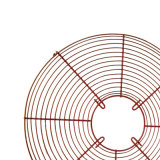 Ventilation Cooling Red Chromium plates Metal Fan Filter