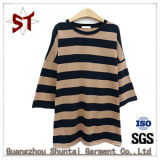 Ladies Fashion simple Striped Short T-shirt