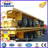 40FT 3つの車軸平面またはプラットホームシャーシユーティリティか半貨物専用コンテナのトレーラー