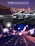 Macchina fotografica impermeabile del recupero di inverso della parte posteriore dell'automobile di visione notturna dei 8 LED