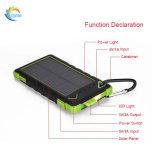 8000mAh réels conjuguent chargeur solaire de côté de pouvoir de ports USB