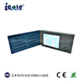 Persoonlijkheid Aangepast Ontwerp met 2.4 Duim LCD VideoBrocbure voor Zaken