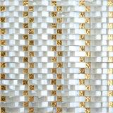precio de fábrica de amarillo mosaico de vidrio Backsplash lineal Egipto