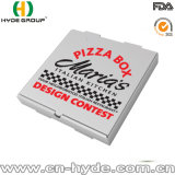 El Libro Blanco crea el rectángulo para llevar de la pizza para requisitos particulares con insignia