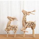 Del mestiere della decorazione di legno creativa della Tabella 100% decorazioni di legno naturali Handmade bella di natale del regalo di compleanno/natale dei Figurines della casa/ufficio dei cervi