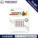 Batería larga de la vida de servicio del níquel de AA/Hr6 1200mAh del hidruro recargable del metal con el Ce para el juguete