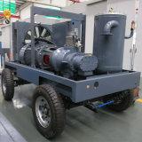 銅山のプロジェクトのための2/4の車輪ディーゼル携帯用回転式ねじ空気圧縮機