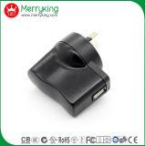 Aea CB Carga rápida de aprobaciones de 5V 1un soporte de pared USB Adaptador de CA para el tapón de la UA