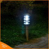 LED de exterior de la luz solar para jardín de césped iluminación horizontal