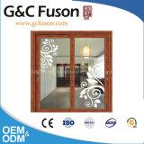 Portes coulissantes chinoises résidentielles en aluminium extérieures avec l'auvent