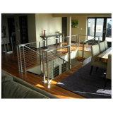 Diseño del pasamano del balcón del acero inoxidable de la barandilla del cable