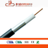 Cable Qr500-W del tronco del cable coaxial RG6 75ohm