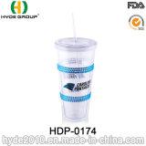 Het Drinken van het Sap van Kerstmis 22oz Plastic Tuimelschakelaar met Stro (hdp-0174)