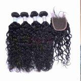 Capelli indiani del Virgin dell'onda naturale non trattata dei capelli umani di 100%