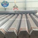 Tubo de acero galvanizado inconsútil usado en la talla normal para el andamio