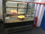 Nuovo Ce di Wirh del frigorifero del forno della vetrina della torta del portello della curva di stile 2016, Saso