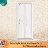 Deshengハイデラバードの明白な木PVC浴室のドアの価格